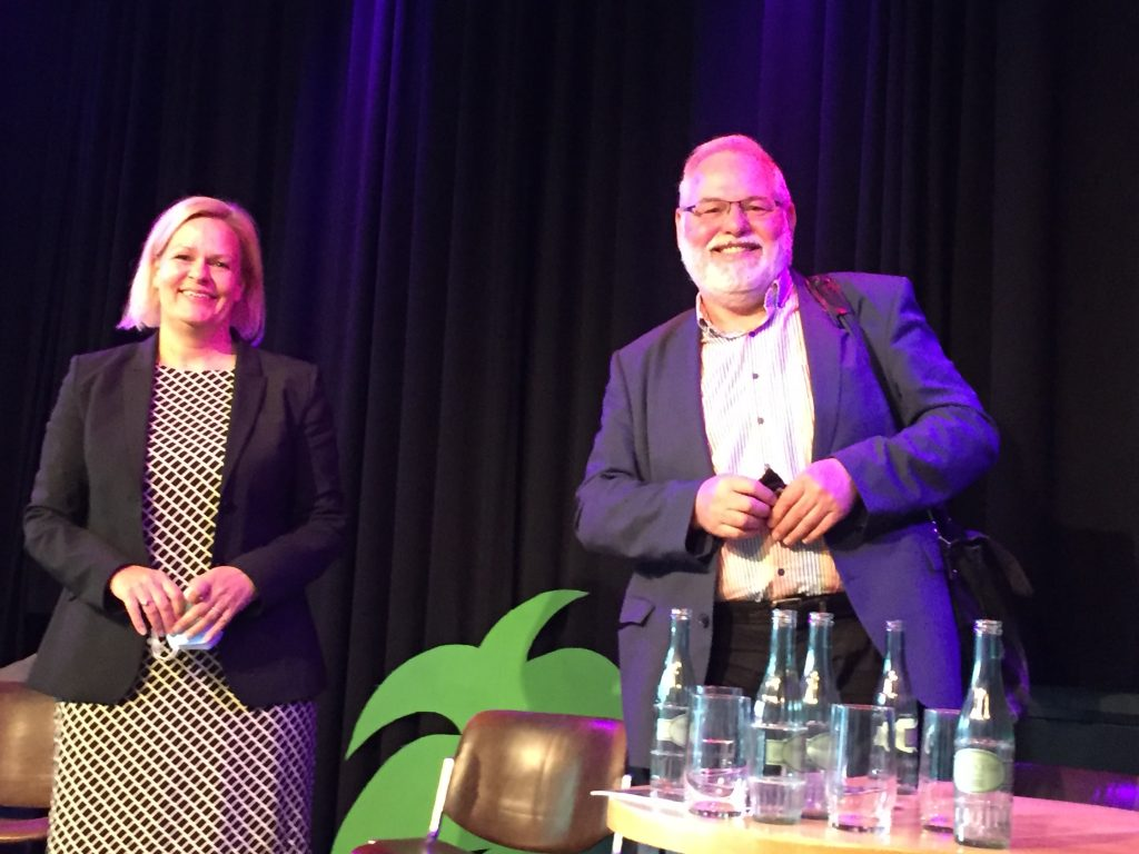 Nancy Faeser und Hermann Schaus auf der Veranstaltung